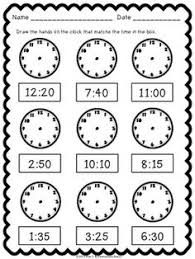 telling time to five minutes draw the time reloj reloj hora y