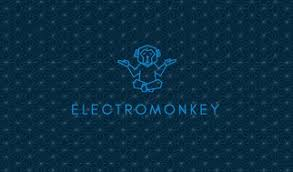 blue monkey electrician business card templates by canva