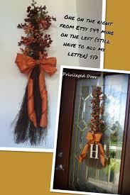 halloween garlands cinnamon broom wreath for sale on etsy 49 mine 15 40 broom 3 99