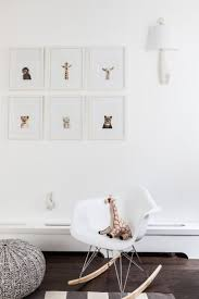 White Nursery Glider Baby Nursery Nice Chic Baby Room Decoration Using White Fiberglass