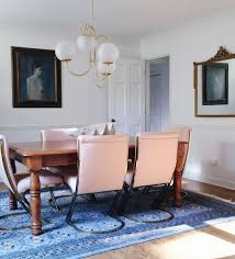Light Blue Bedroom Love The by Pink And Brass Cantilever Chairs In A Dining Room Paired With A