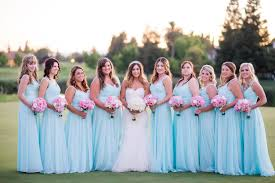 Traditional Wedding with Powder Blue Bridesmaid Dresses Lunss