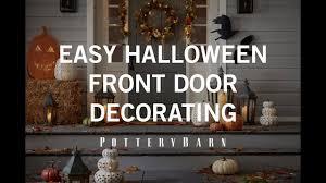 easy halloween front door decorating youtube