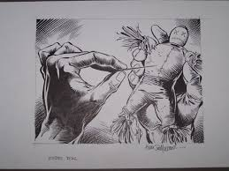voodoo doll by kim demulder in john platt u0027s monsters comic art