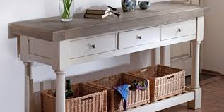Narrow White Console Table Outstanding Painted Console Table Oak Top 99 On Narrow White