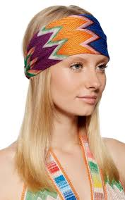 zig zag headband printed zig zag striped headband by missoni moda operandi