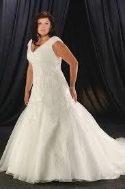 v neck ruching organza embroidery beautiful plus size wedding
