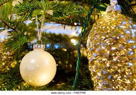 beautiful tree ornaments stock photos