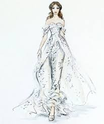 wedding dress sketches kylaza nardi