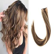 invisible hair halo wire flip in human hair extensions balayage brown with