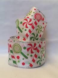 wide christmas ribbon christmas script ribbon orchard ribbon 4 wide orange and