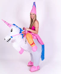 unicorn costume halloween inflatable unicorn animal fantasy mythical blow up party