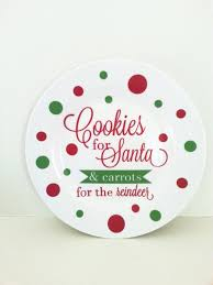 cookies for santa plate decoration vinyl by luxeloft