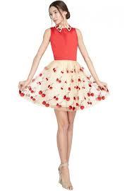 Olivia Halloween Costume Alice Olivia Cherry Pouf Dress Red Lyst