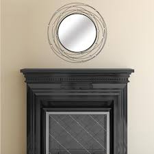 mirror home decor stratton home decor 31 in x 31 in black with