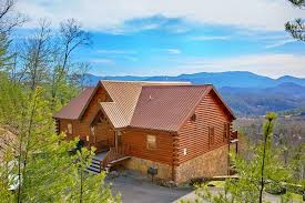 1 bedroom cabin rentals in gatlinburg tn above the smokies dollywood area cabin with amazing view