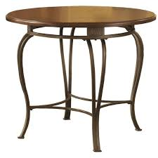 36 Inch Round Kitchen Table by Hillsdale Montello 36 Inch Round Casual Dining Table In Brown