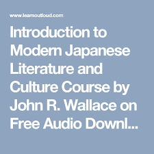 japanese online class introduction to modern japanese literature and culture course by