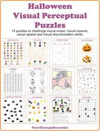 halloween puzzle games seasonal and holiday visual perceptual and visual motor skill