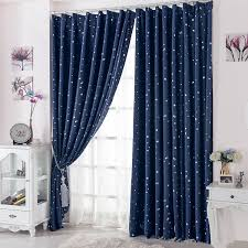 Blue Window Curtains Curtain For 100 Blackout Cortinas Para Sala For Living Room Flat