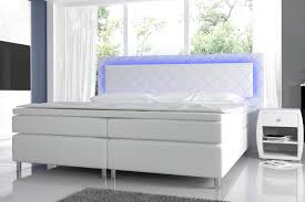 Schlafzimmer Komplett Mit Bett 140x200 Novabox In Hochglanz Mit Boxspringbett