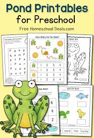 free preschool pond printables instant download free