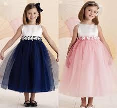 charming sweet navy blue white flower dresses ankle length