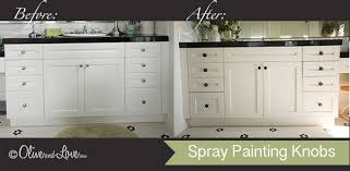 Spray Paint Cabinet Hinges olive and love how to spray paint knobs