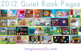 a year of quiet book pages 2012 imagine our life