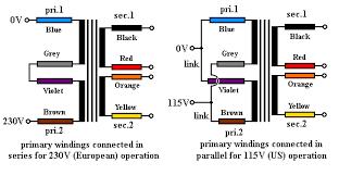 wiring toriodal mains transformers