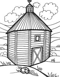 8 images of farm house and barn coloring pages farm barn