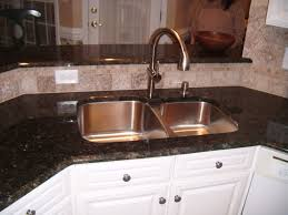 granite countertop black kitchen cabinets with white countertops