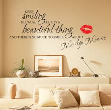 Marilyn Monroe Living Room by Marilyn Monroe Wall Stickers Quotes Art Decals W55 Ebay