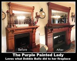fireplace transformation using chalk paint the purple painted lady