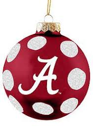 painted alabama crimson tide houndstooth ornament