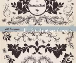 floral vintage ornaments vector vector graphics