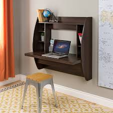 amazon com prepac wall mounted floating desk with storage in