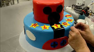 mickey mouse cake two tier mickey mouse cake decorating process how to cake