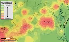 Virginia Mountains Map by An Earthquake History Finding Faults In Virginia Uva Today