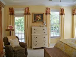 Bedroom Window Valance Ideas Blue And White Cloud Wallpaper Behind - Bedroom window valance ideas