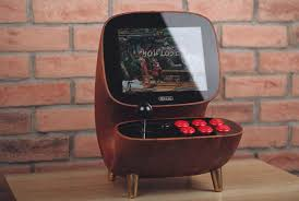Console Gaming Desk by Mini Wooden Arcade Brings Retro Gaming To Your Desktop Mental Floss
