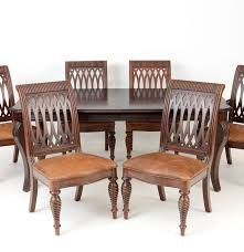 bernhardt walnut dining table and chairs ebth
