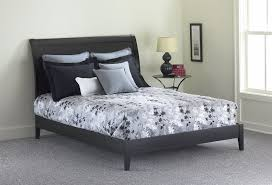 amazon com java platform bed with wood frame and sleigh headboard