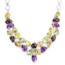 amethyst jewelry necklace images Gemstones of amethyst green amethyst lemon quartz and citrine jpg