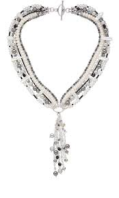 jewelry design multi strand necklace with swarovski crystal