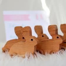 rabbit party supplies snow bunny birthday party favors rolling wooden rabbits by