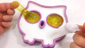 diy how to make u0027manicure owl milk slime clay u0027 learn colors slime
