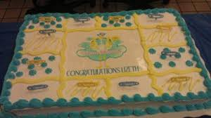 double storks twin baby shower cake