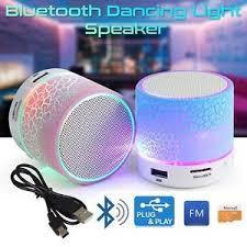 led light bluetooth speaker wireless mini led lights bluetooth speaker with fm radio microphone