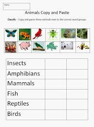 animal kingdom worksheets worksheets